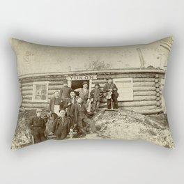 Turn of the Century Americans in the Yukon Rectangular Pillow