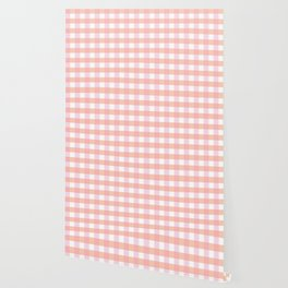 Blush Pink Plaid Wallpaper