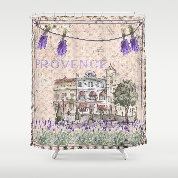 Provence France   My Love   Lavender And Summer Shower Curtain