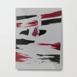 Grabado negro y rojo Metal Print