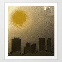 miami Art Prints featuring Miami by Maria Julia Bastias