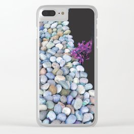 Serpentine Flow of Colorful River Rocks Clear iPhone Case
