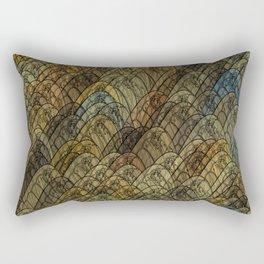 Multi-coloured Dragon Fly Wings Rectangular Pillow