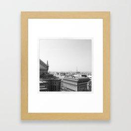 Paris in Grey Framed Art Print