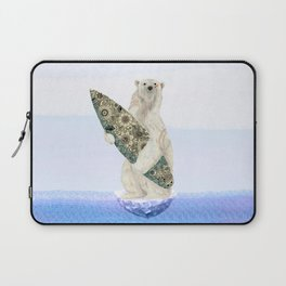 Polar bear & Surf (black) Laptop Sleeve