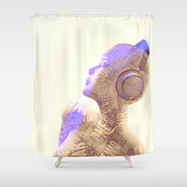 Your Words Are Meaningless II Shower Curtain