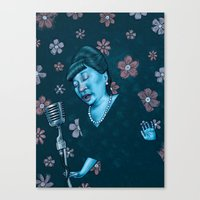 fitzgerald Canvas Prints featuring Ella Fitzgerald by Jason Raish