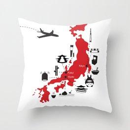 Japan (noun) Throw Pillow