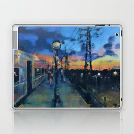 Sunset from a Train Platform Laptop & iPad Skin