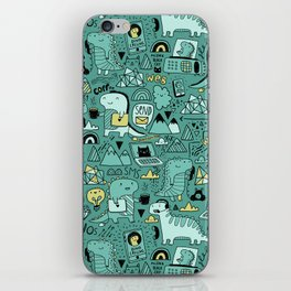 Communication Dinosaurs iPhone Skin