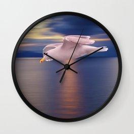 Sunset Flight Wall Clock
