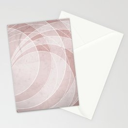 Orbiting Circle Design in Shell Pink Stationery Cards