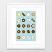 donuts Framed Art Prints featuring Donuts by Dorothy Leigh