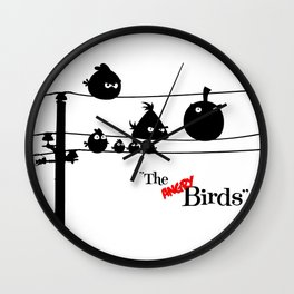 Hitchcock´s The angry Birds Wall Clock