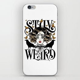 Rose and The Ravens | Stay Weird iPhone Skin
