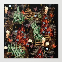 Schlitz Crystals Canvas Print