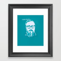 Hello World - This is a portrait of Dennis Ritchie  Framed Art Print