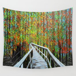 Walkway  in the woods  Wall Tapestry