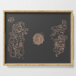 Map of Classic WoW - Vanilla Azeroth (Charcoal) Serving Tray
