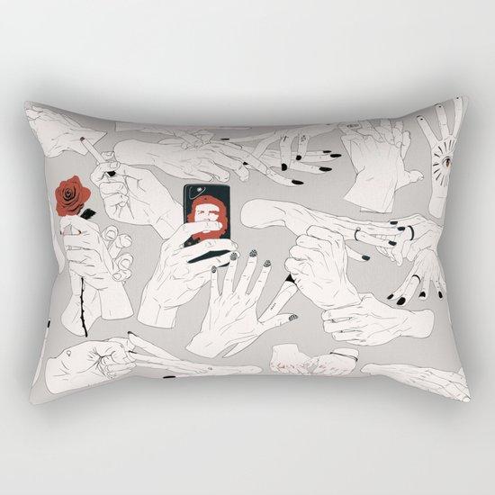 Hands / Composition - Gray version Rectangular Pillow