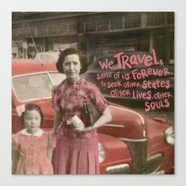 we travel Canvas Print