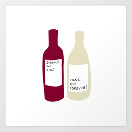 Love wine Art Print