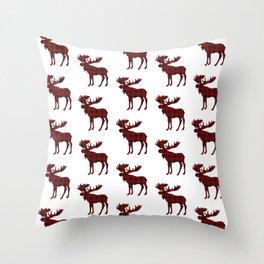 Buffalo Check Moose Throw Pillow
