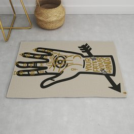 YOUR FATE IS IN YOUR HANDS Rug