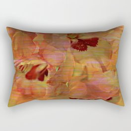 Vintage Soft Peach Glow Gladiola Abstract Rectangular Pillow