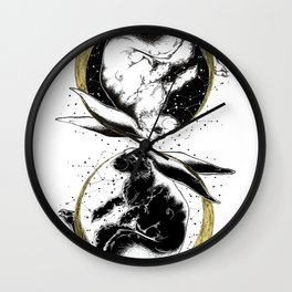 Astrological rabbits Wall Clock