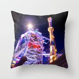 Industrial HDR photography - Steel Plant 1 Throw Pillow