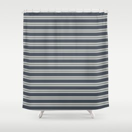 Benjamin Moore 2019 Trending Color Hale Navy Blue Gray HC-154 and Color of the Year 2019 Metropolita Shower Curtain