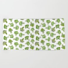Broccoli - Scattered Beach Towel