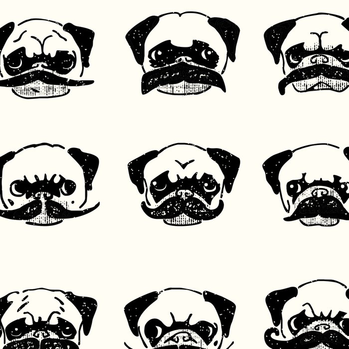 Moustaches of The Pug Leggings