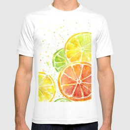 Fruit Watercolor Citrus T-shirt