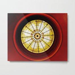 Stained Glass Rotunda Metal Print
