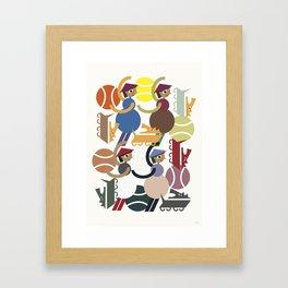 Women and dogs Framed Art Print