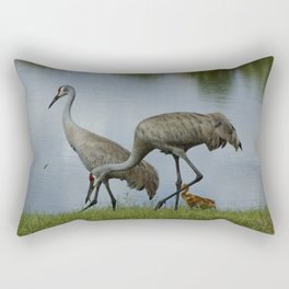 Sandhill Crane Family Rectangular Pillow