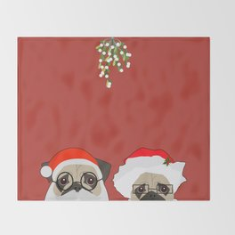 Mr And Mrs Claus Throw Blanket