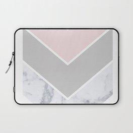 Scandinavian Marble Blush Gray Laptop Sleeve