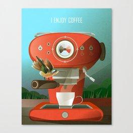 Hummingbird Enjoys Coffee Canvas Print