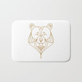Gold Bear One Bath Mat