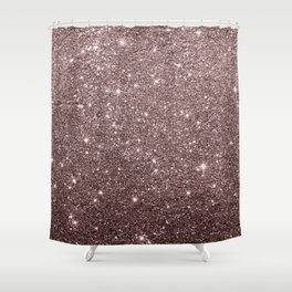 Modern mauve burgundy rose gold glitter Shower Curtain
