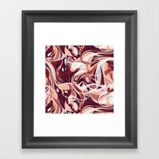 Marsala Shake Framed Art Print
