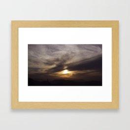 Sunset over Rio Framed Art Print