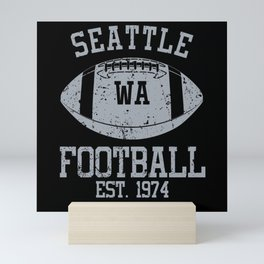Seattle Football Fan Gift Present Idea Mini Art Print