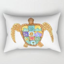 Sunny Sea Turtle Rectangular Pillow