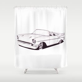 1957 Custom Belair Shower Curtain