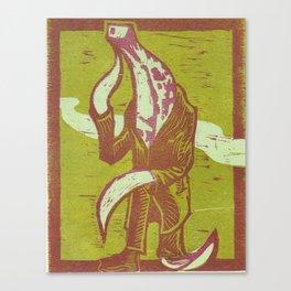 banana-man. Canvas Print