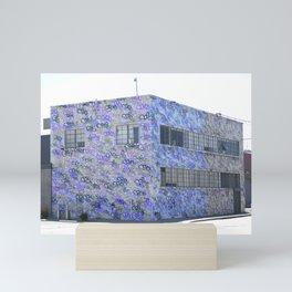 Purple Urbanized Wall Pattern Mini Art Print